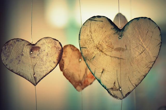 pověšená srdce