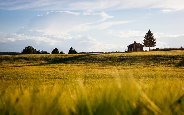 Osamocený dům na venkově
