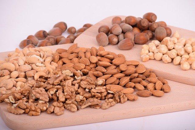 ořechy, zdroj vlákniny