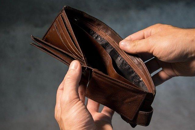 I peněženka je prázdná