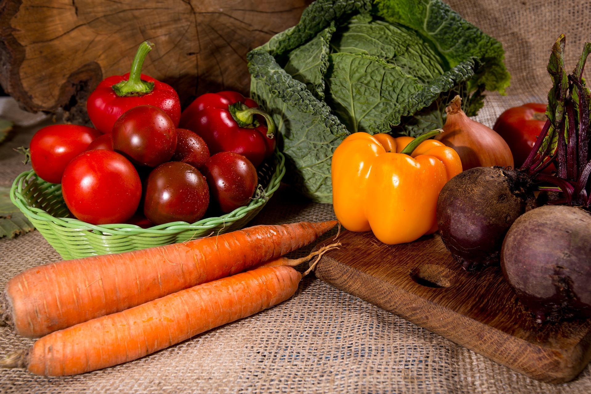 zelenina na stole
